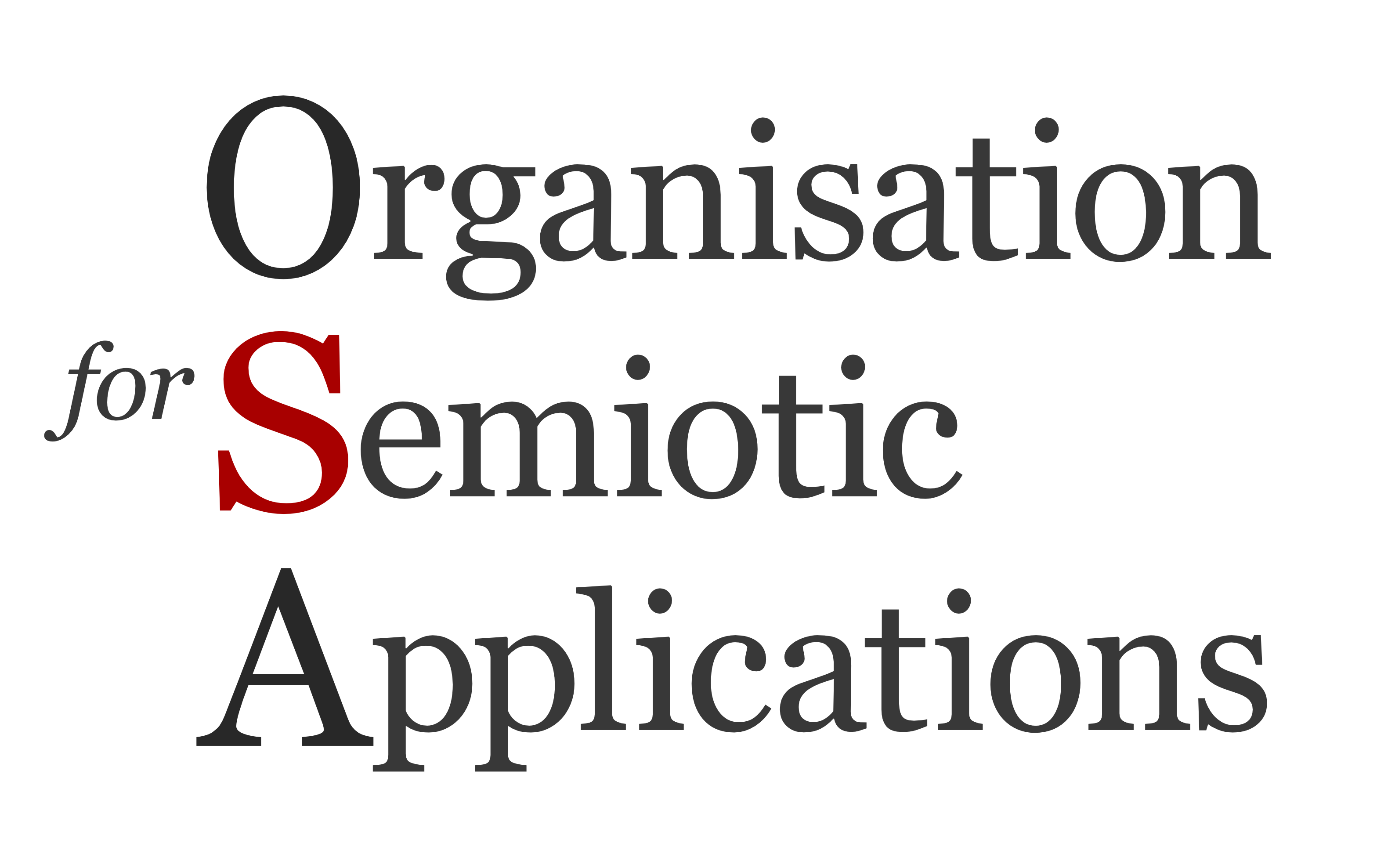 Organization for Semiotic Applications